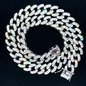 Other - White Gold Iced Out Cuban Chain 12mm